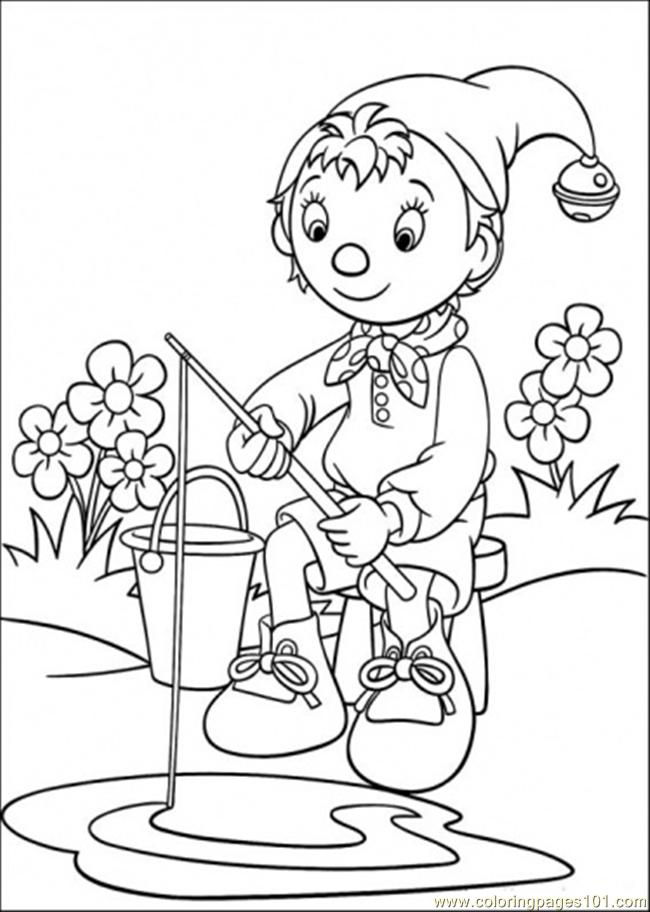 Coloring Pages Noddy Is Fishing Cartoons Gt Noddy Free Noddy Colouring Pages
