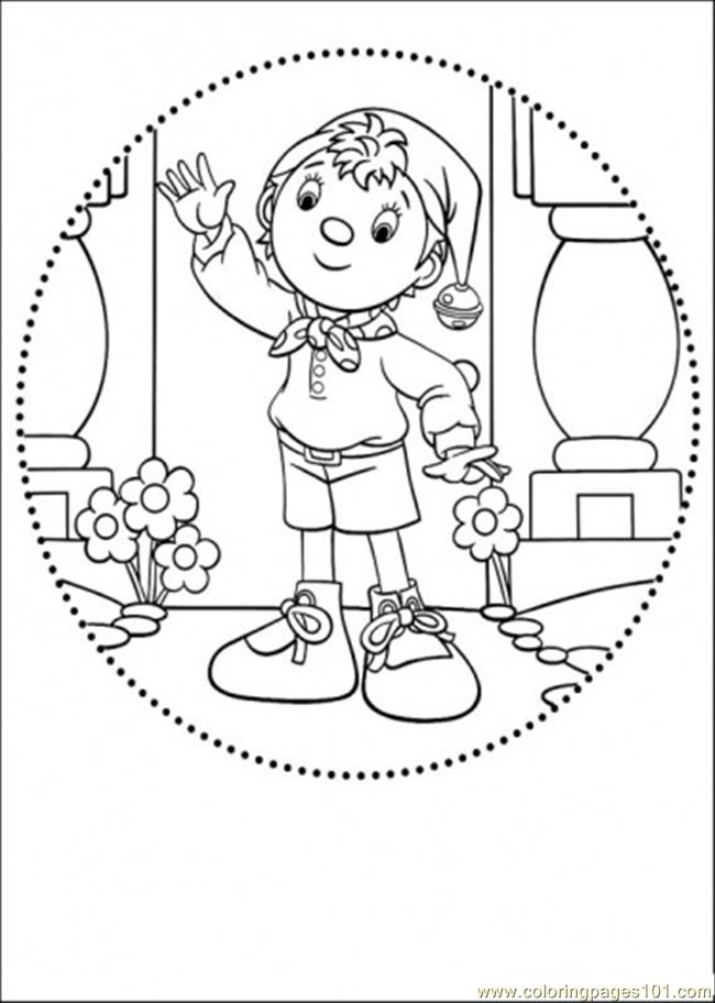 Coloring Pages Noddy Says Greeting Cartoons Gt Noddy