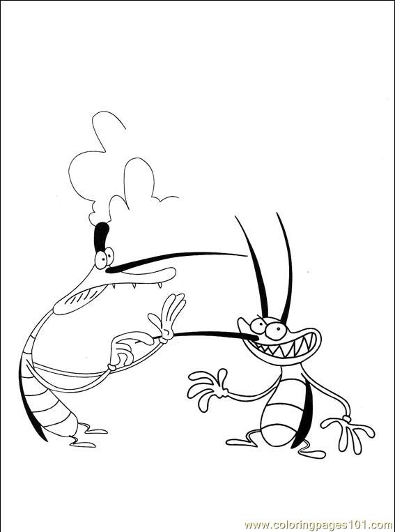 oggy and the cockroaches coloring pages online - photo #36