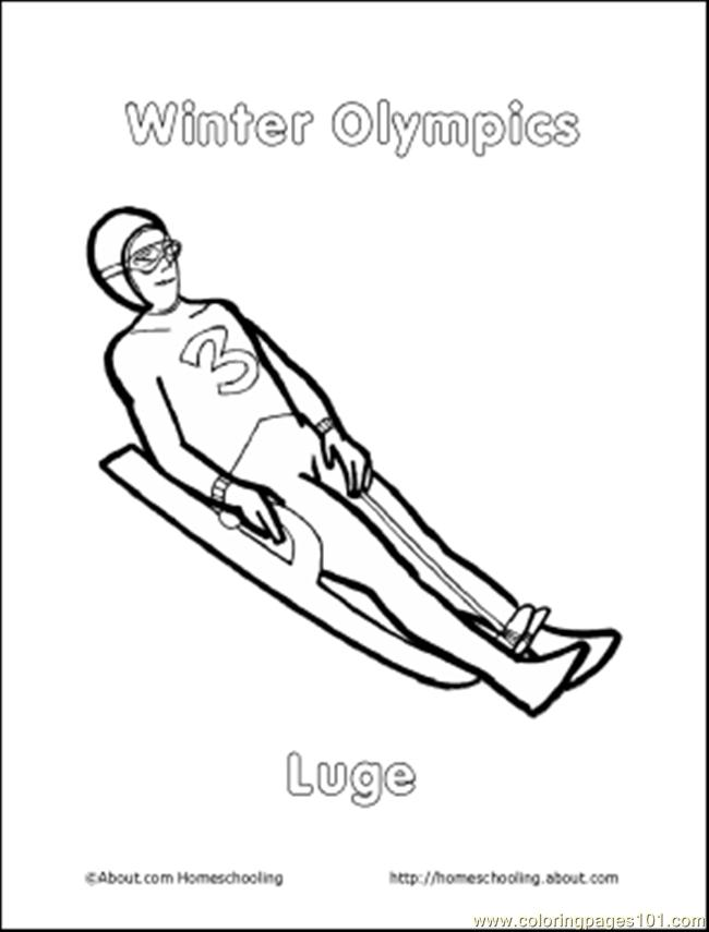 free printable coloring page 98 Olympiccolor7  Sports  gt  Olympics Winter Olympic Coloring Pages