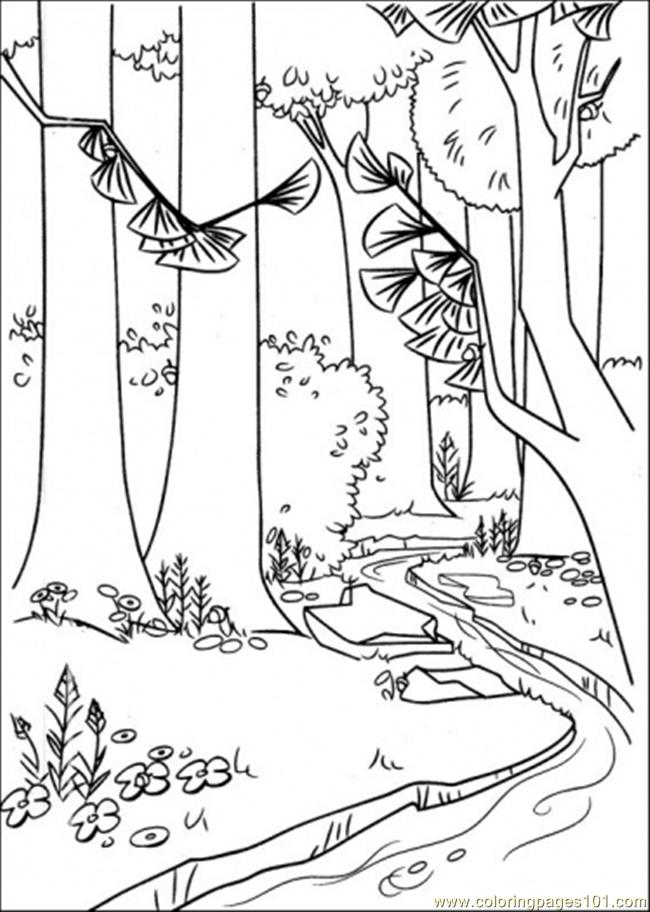 Coloring Pages A River In The Forest Cartoons gt Open