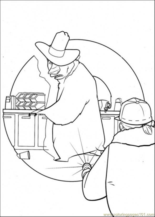 Coloring Pages The Police Try To Catch Boog Cartoons