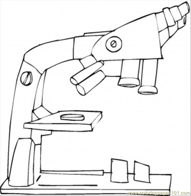 Coloring Pages To See The Bactaries (Technology > Optical) - free ...