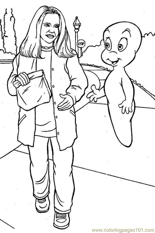 Coloring Pages Casper talking to
