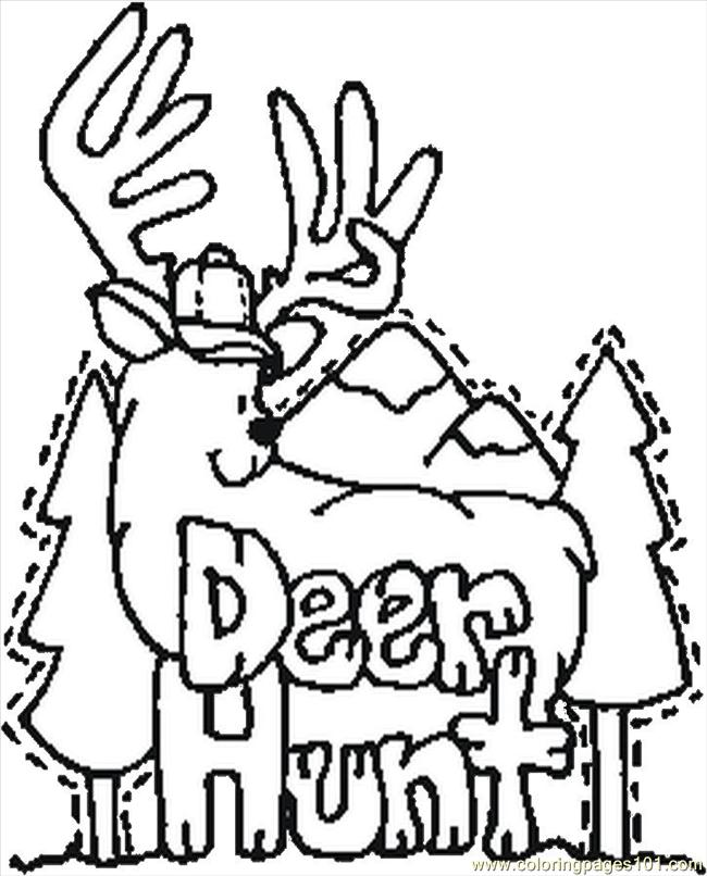 free printable coloring page Deer Hunt (Entertainment > Others)