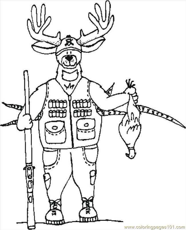 free printable coloring page Deer Hunting (Entertainment > Others)