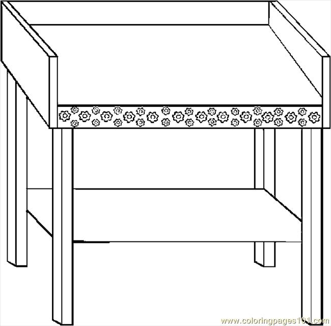 tables coloring pages - photo #47