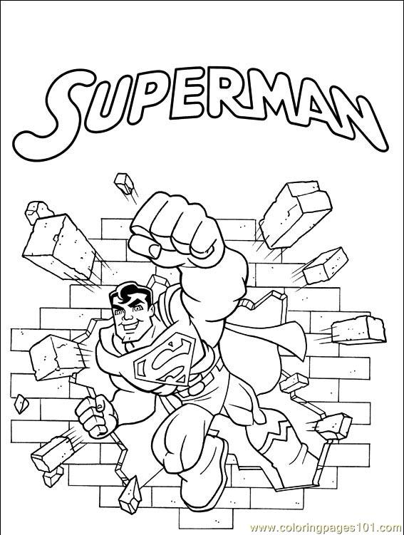 comic book character coloring pages - photo#9