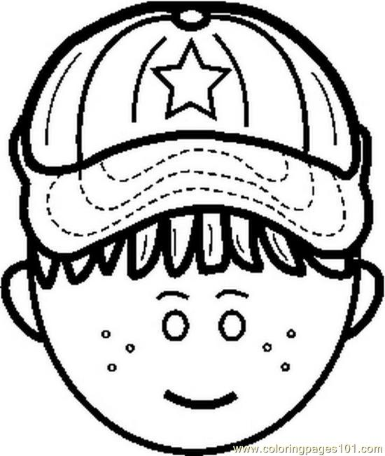 little boy face colouring pages page 2