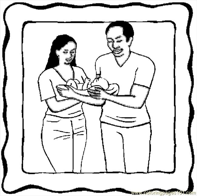parenting coloring pages | Coloring Pages Parents & Infant 10 (Peoples > Others ...