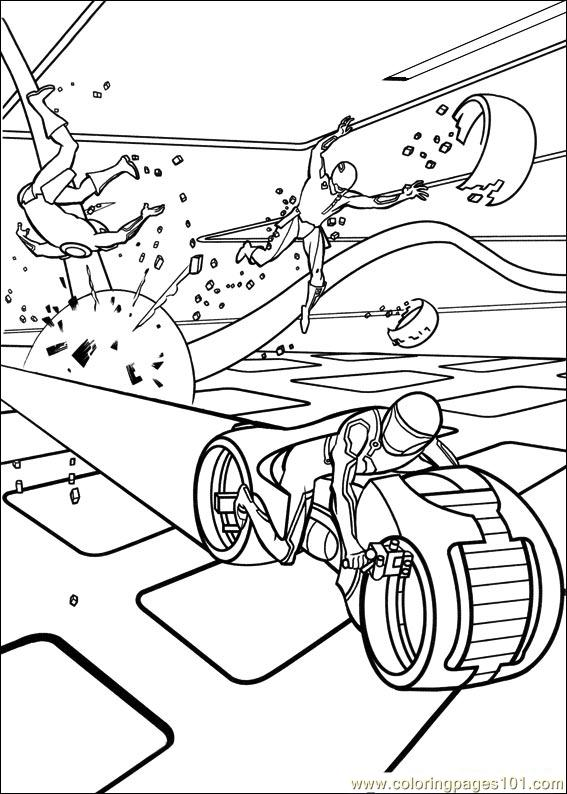 tron coloring pages - tron free coloring pages