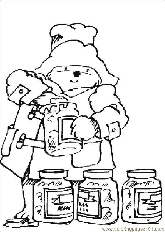 Paddington Bear08 coloring page