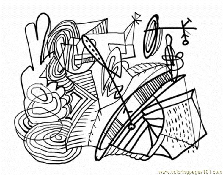 Free Abstract Coloring Pages Pdf : Coloring pages abstract other gt painting free