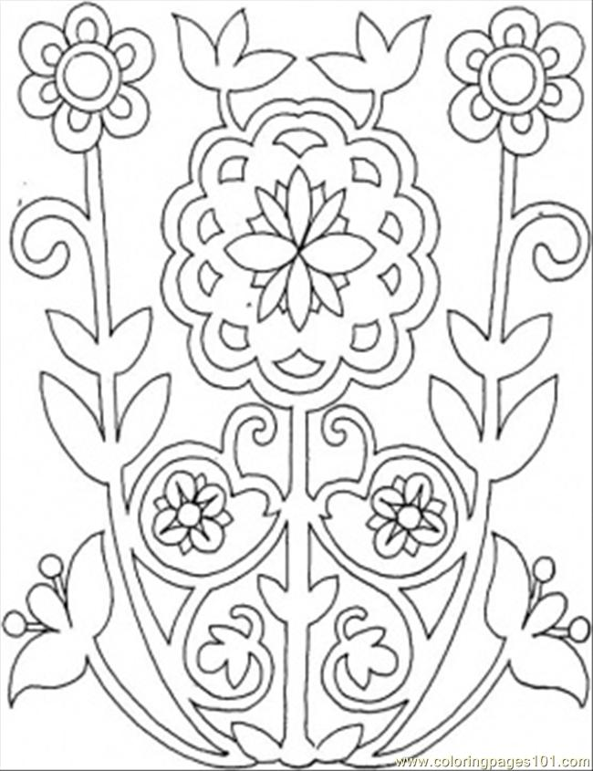 Colouring In Patterns Flowers : Free flower patterns coloring pages