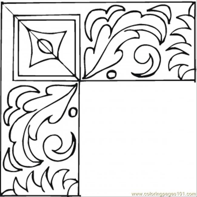 free printable coloring page Nice Frame Coloring Page (Other u0026gt; Pattern ...