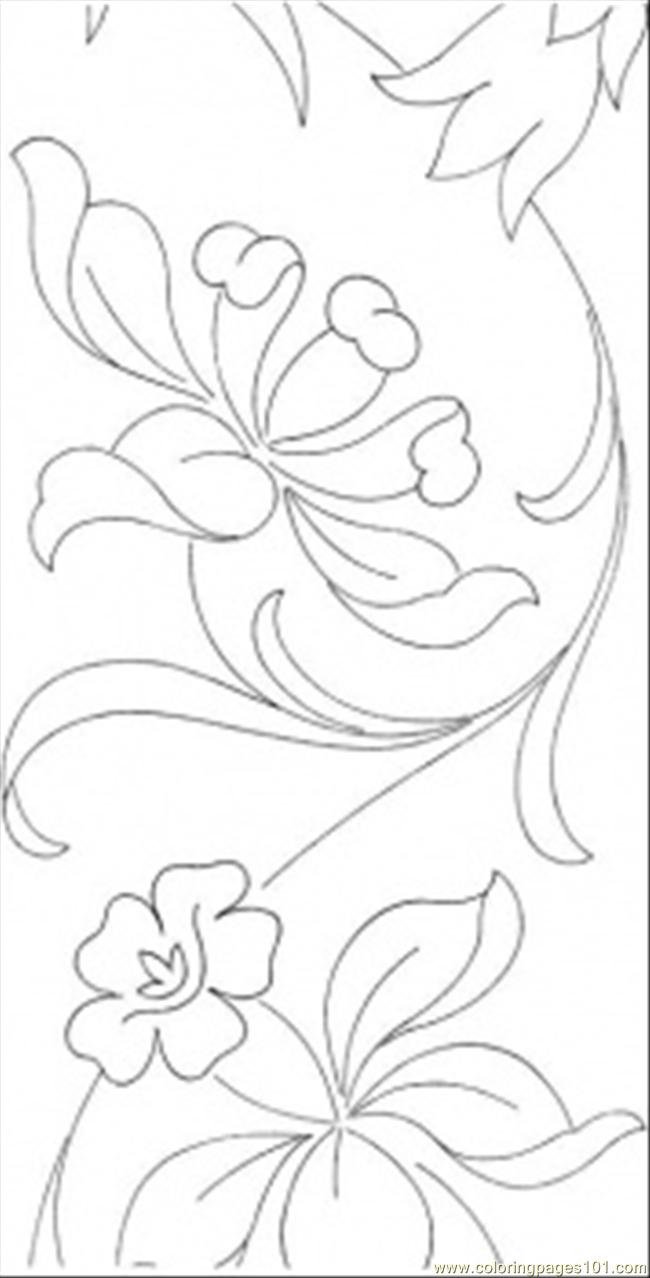 Colouring In Patterns Flowers : Floral pattern colouring pages