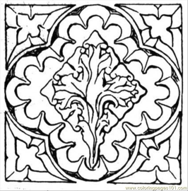 flower coloring pattern - photo #7