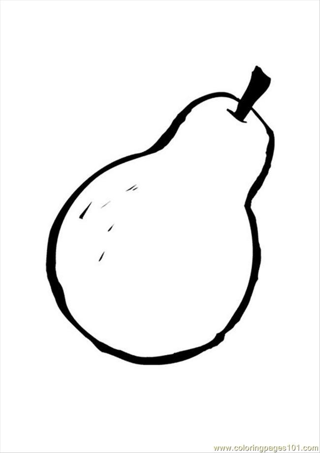 Free Pear Drawing Coloring Pages Pear Coloring Page