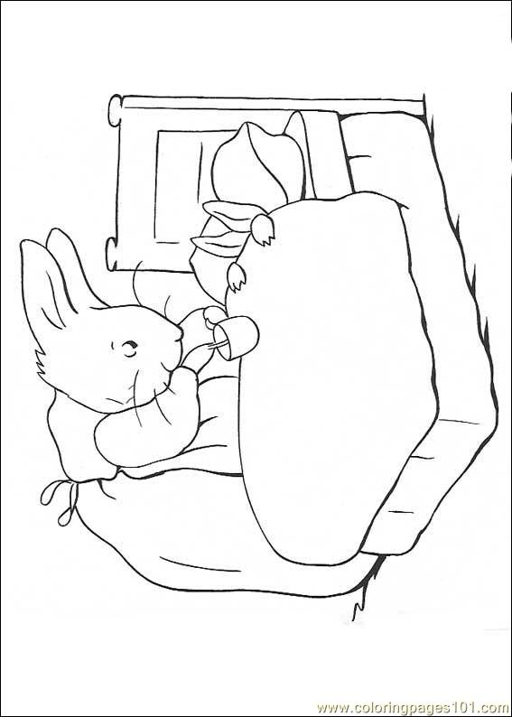 peter rabbit cartoon coloring pages - photo#29