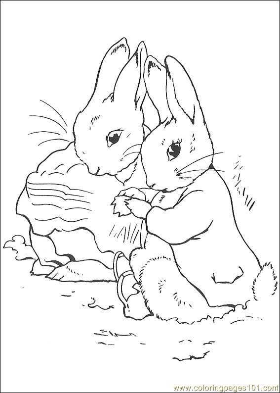 peter rabbit cartoon coloring pages - photo#15