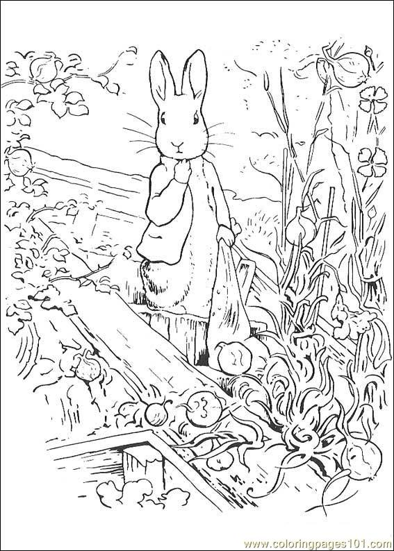 peter rabbit cartoon coloring pages - photo#36