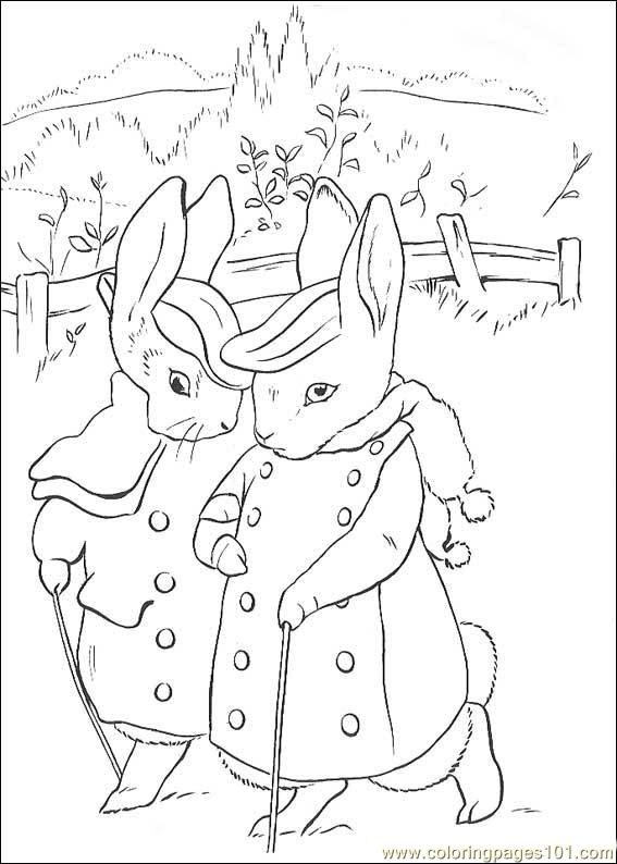 peter rabbit cartoon coloring pages - photo#14