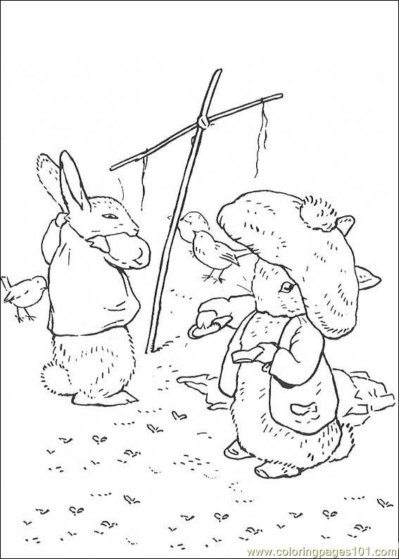 peter rabbit cartoon coloring pages - photo#8
