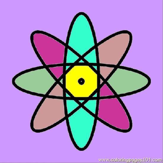 atoms and molecules coloring pages - photo#27