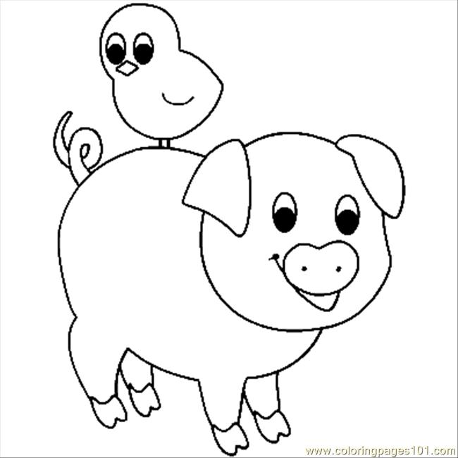 free coloring pages of pigs - photo#31