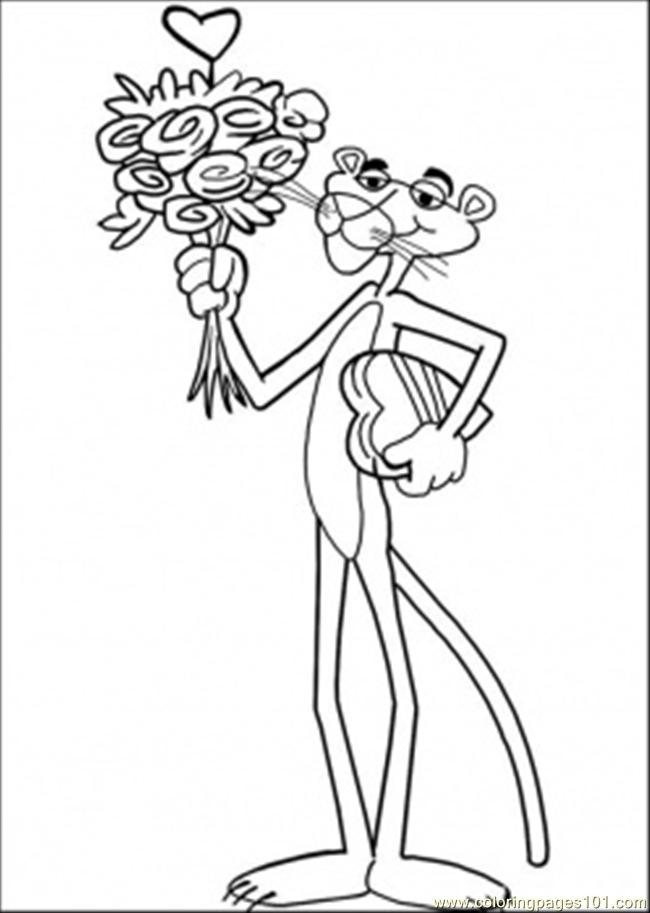 free coloring pages pink panther - photo#29