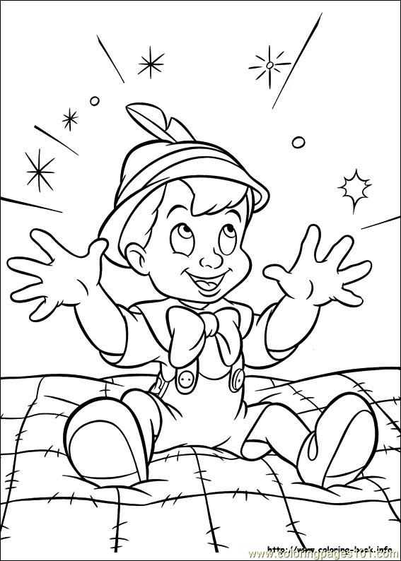 Free Coloring Pages Of Pinocchio