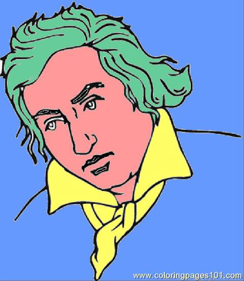 Coloring Pages Ludwig Van Beethoven Peoples Gt Politics