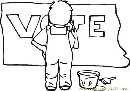 coloring pages vote - photo#13