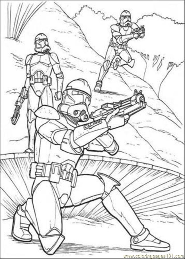 star wars the clone colouring pages fun color page