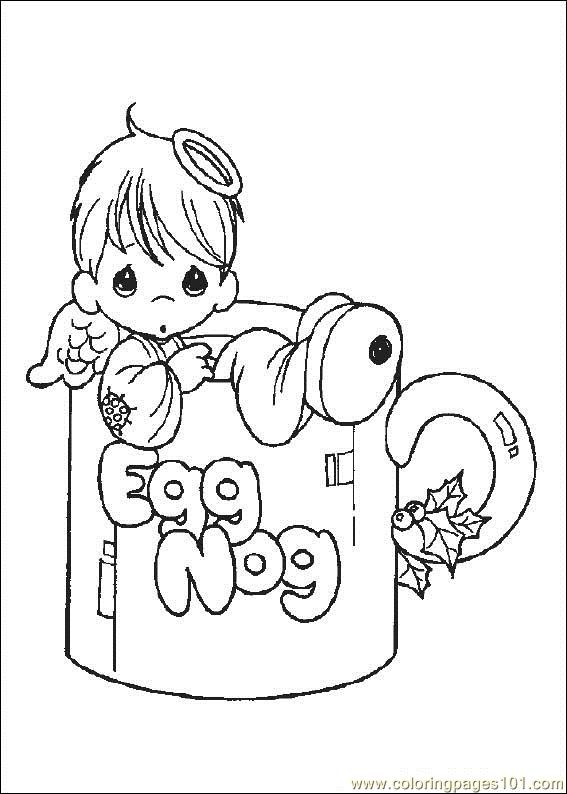 Free printable coloring page precious moments cartoons gt precious