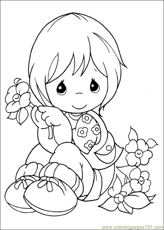 precious moments coloring pages cow - photo#31