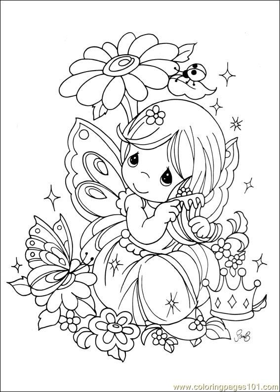 Free printable coloring page precious moments 24 cartoons gt precious