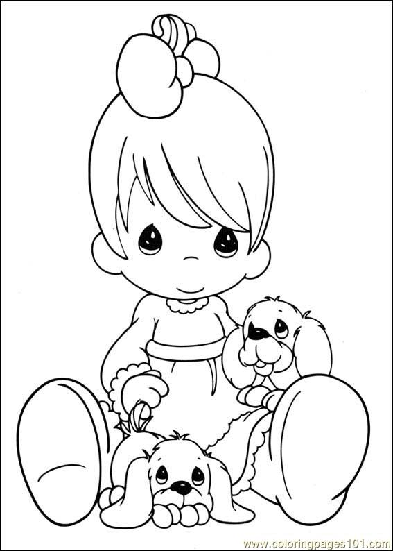 precious moment baby coloring pages - photo #16
