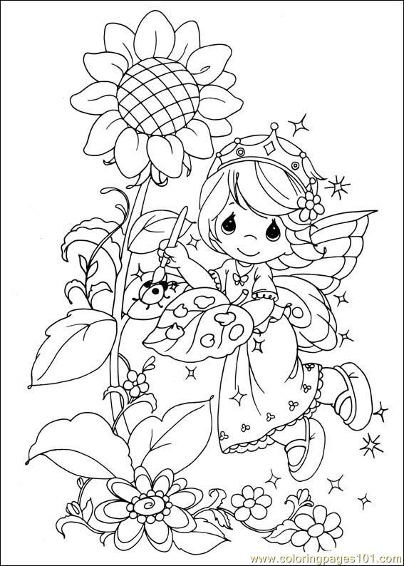 Precious Moments 42 Coloring Page