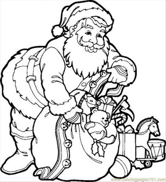Coloring Pages Santa Claus 1 Cartoons Gt Precious Moments