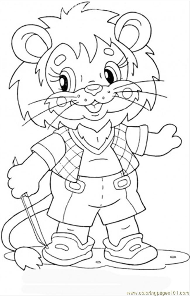 free lion cub coloring pages - photo#12