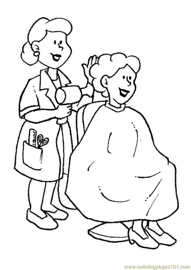 Coloring Jobs Online : Coloring Pages Beroep 40 (Peoples > Profession) free printable coloring page online