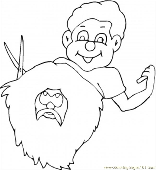hair salon coloring pages - photo #11