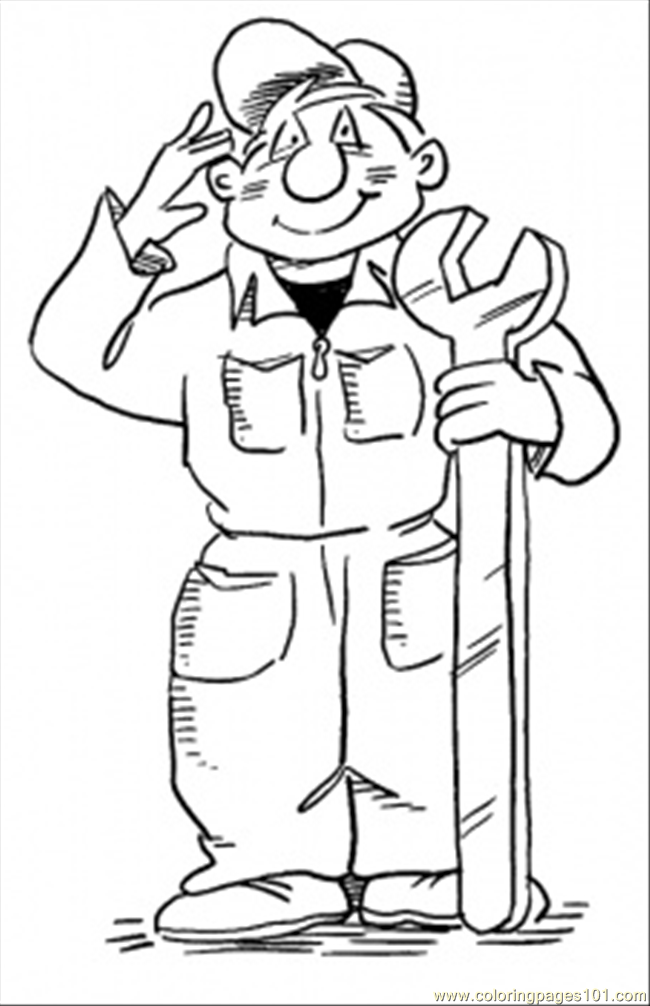 coloring pages of professions - photo#14