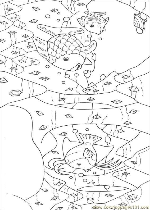 coloring pages rainbow fish001  10   cartoons  u0026gt  rainbow fish