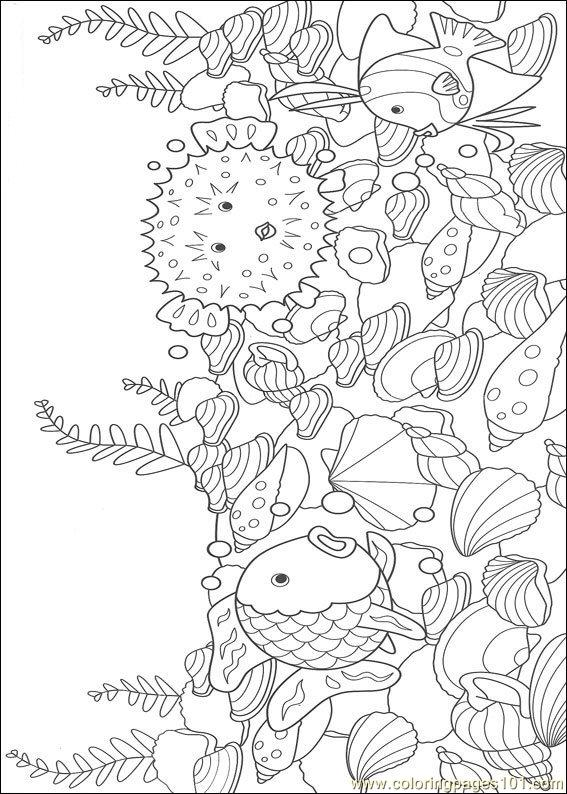 printable coloring page Rainbow Fish001  12   Cartoons  gt  Rainbow FishRainbow Fish Coloring Pages