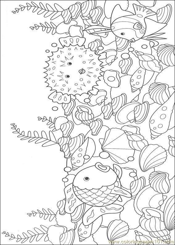coloring pages rainbow fish001  12   cartoons  u0026gt  rainbow fish