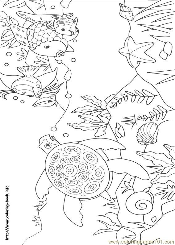 Coloring Pages Rainbow Fish 10 Cartoons Gt Rainbow Fish