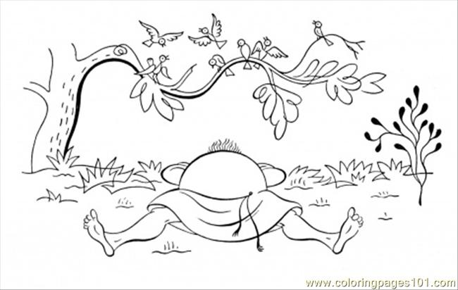 resting coloring pages - photo#48