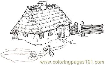 Grandmothers House Coloring Page 75